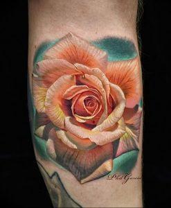 фото тату роза от 30.09.2017 №026 - rose tattoo - tattoo-photo.ru