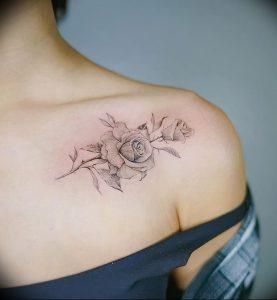 фото тату роза от 30.09.2017 №028 - rose tattoo - tattoo-photo.ru