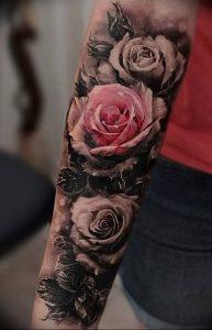 фото тату роза от 30.09.2017 №031 - rose tattoo - tattoo-photo.ru