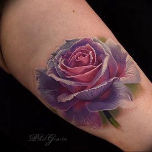 фото тату роза от 30.09.2017 №033 - rose tattoo - tattoo-photo.ru
