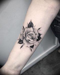 фото тату роза от 30.09.2017 №034 - rose tattoo - tattoo-photo.ru