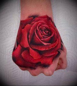 фото тату роза от 30.09.2017 №037 - rose tattoo - tattoo-photo.ru