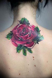 фото тату роза от 30.09.2017 №041 - rose tattoo - tattoo-photo.ru