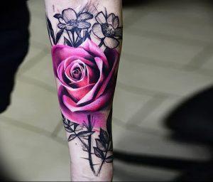 фото тату роза от 30.09.2017 №044 - rose tattoo - tattoo-photo.ru