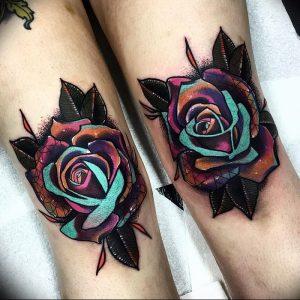 фото тату роза от 30.09.2017 №047 - rose tattoo - tattoo-photo.ru