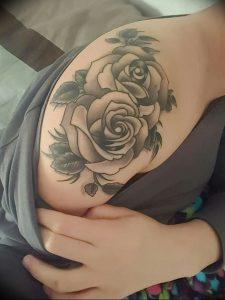 фото тату роза от 30.09.2017 №048 - rose tattoo - tattoo-photo.ru