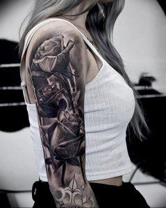фото тату роза от 30.09.2017 №054 - rose tattoo - tattoo-photo.ru