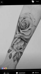 фото тату роза от 30.09.2017 №056 - rose tattoo - tattoo-photo.ru