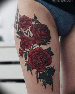 фото тату роза от 30.09.2017 №068 - rose tattoo - tattoo-photo.ru