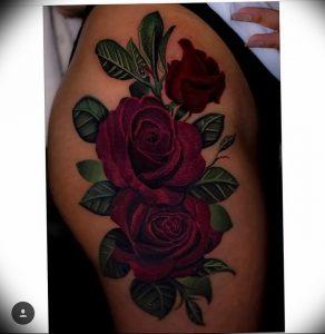фото тату роза от 30.09.2017 №075 - rose tattoo - tattoo-photo.ru