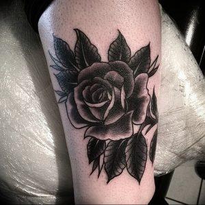 фото тату роза от 30.09.2017 №076 - rose tattoo - tattoo-photo.ru