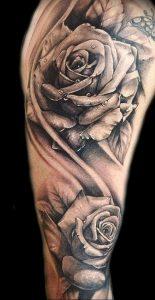 фото тату роза от 30.09.2017 №077 - rose tattoo - tattoo-photo.ru