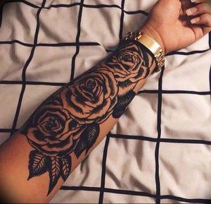 фото тату роза от 30.09.2017 №079 - rose tattoo - tattoo-photo.ru