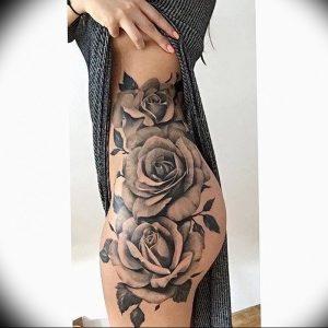 фото тату роза от 30.09.2017 №081 - rose tattoo - tattoo-photo.ru