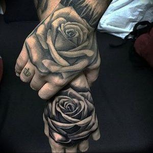 фото тату роза от 30.09.2017 №088 - rose tattoo - tattoo-photo.ru