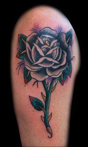 фото тату роза от 30.09.2017 №092 - rose tattoo - tattoo-photo.ru