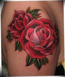 фото тату роза от 30.09.2017 №093 - rose tattoo - tattoo-photo.ru