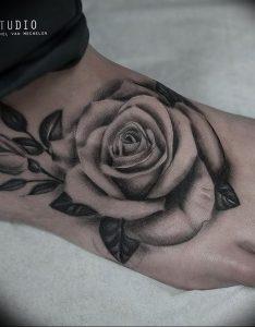 фото тату роза от 30.09.2017 №094 - rose tattoo - tattoo-photo.ru