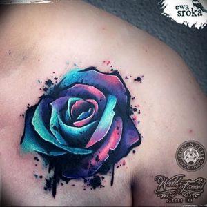 фото тату роза от 30.09.2017 №096 - rose tattoo - tattoo-photo.ru