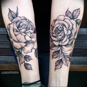 фото тату роза от 30.09.2017 №097 - rose tattoo - tattoo-photo.ru