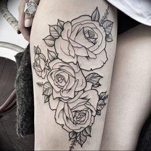 фото тату роза от 30.09.2017 №100 - rose tattoo - tattoo-photo.ru