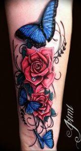 фото тату роза от 30.09.2017 №106 - rose tattoo - tattoo-photo.ru