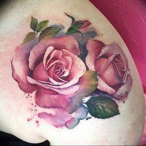 фото тату роза от 30.09.2017 №110 - rose tattoo - tattoo-photo.ru