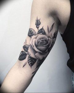 фото тату роза от 30.09.2017 №111 - rose tattoo - tattoo-photo.ru
