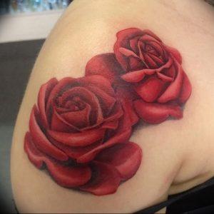 фото тату роза от 30.09.2017 №127 - rose tattoo - tattoo-photo.ru