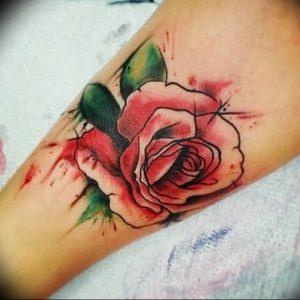 фото тату роза от 30.09.2017 №131 - rose tattoo - tattoo-photo.ru