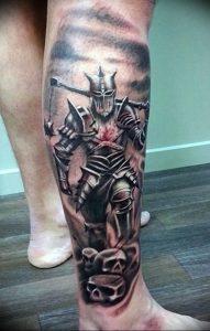 фото тату рыцарь от 27.09.2017 №006 - tattoo knight - tatufoto.com