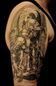 фото тату рыцарь от 27.09.2017 №007 - tattoo knight - tatufoto.com