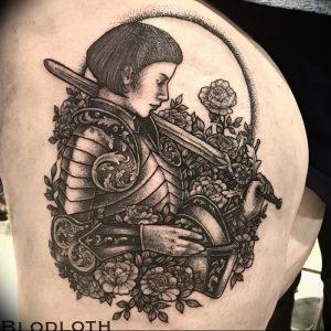 фото тату рыцарь от 27.09.2017 №008 - tattoo knight - tatufoto.com