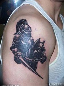 фото тату рыцарь от 27.09.2017 №009 - tattoo knight - tatufoto.com