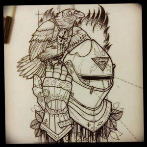 фото тату рыцарь от 27.09.2017 №013 - tattoo knight - tatufoto.com