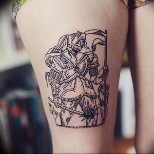 фото тату рыцарь от 27.09.2017 №017 - tattoo knight - tatufoto.com