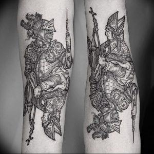 фото тату рыцарь от 27.09.2017 №019 - tattoo knight - tatufoto.com