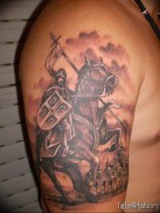 фото тату рыцарь от 27.09.2017 №020 - tattoo knight - tatufoto.com