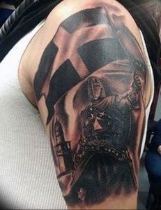 фото тату рыцарь от 27.09.2017 №021 - tattoo knight - tatufoto.com