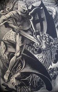 фото тату рыцарь от 27.09.2017 №023 - tattoo knight - tatufoto.com