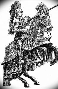 фото тату рыцарь от 27.09.2017 №029 - tattoo knight - tatufoto.com