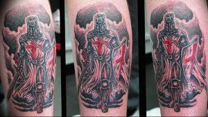 фото тату рыцарь от 27.09.2017 №031 - tattoo knight - tatufoto.com