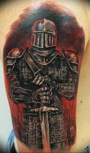 фото тату рыцарь от 27.09.2017 №033 - tattoo knight - tatufoto.com