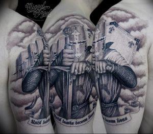 фото тату рыцарь от 27.09.2017 №034 - tattoo knight - tatufoto.com