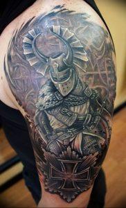 фото тату рыцарь от 27.09.2017 №036 - tattoo knight - tatufoto.com
