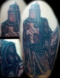 фото тату рыцарь от 27.09.2017 №037 - tattoo knight - tatufoto.com