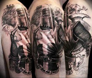 фото тату рыцарь от 27.09.2017 №042 - tattoo knight - tatufoto.com