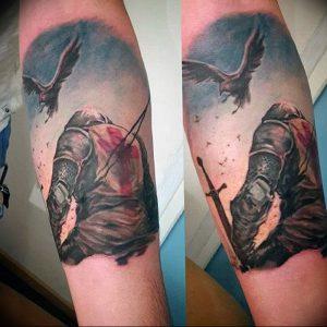 фото тату рыцарь от 27.09.2017 №043 - tattoo knight - tatufoto.com
