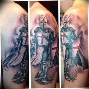 фото тату рыцарь от 27.09.2017 №044 - tattoo knight - tatufoto.com