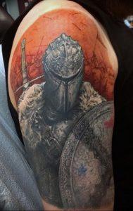 фото тату рыцарь от 27.09.2017 №050 - tattoo knight - tatufoto.com